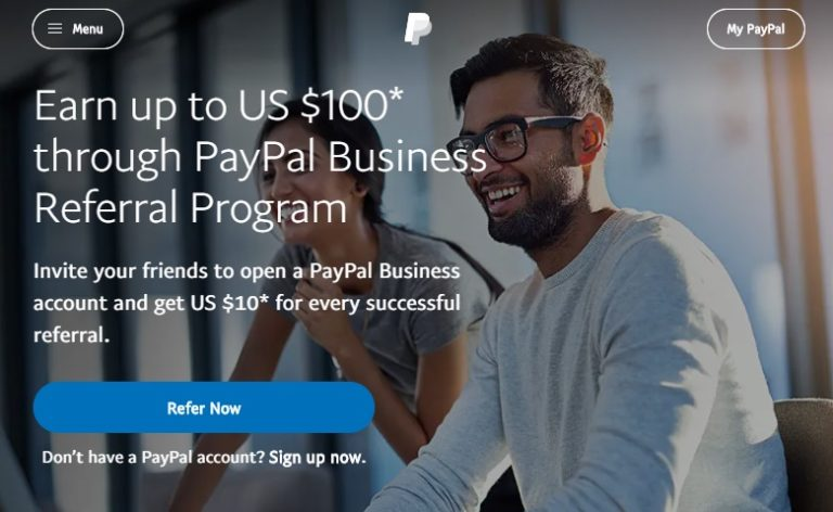 PayPal Business Referral Program and Earn Up to 100$