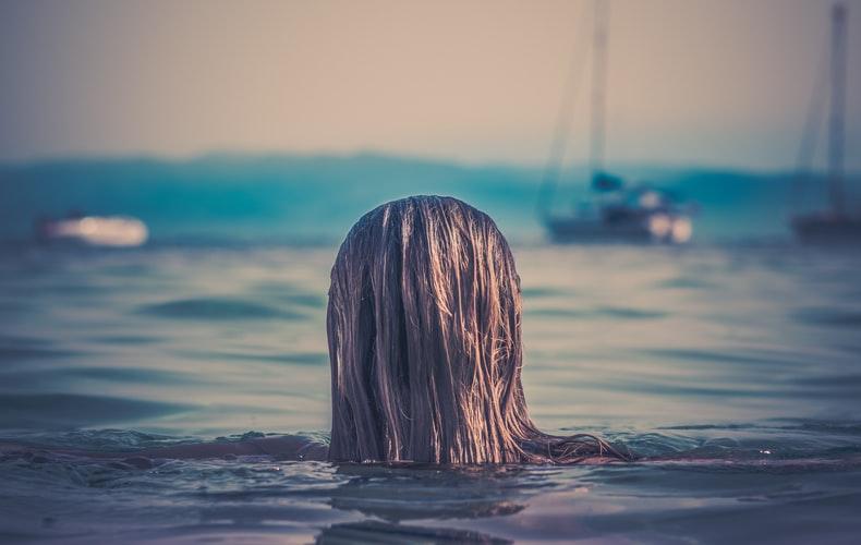 Tying Wet Hair